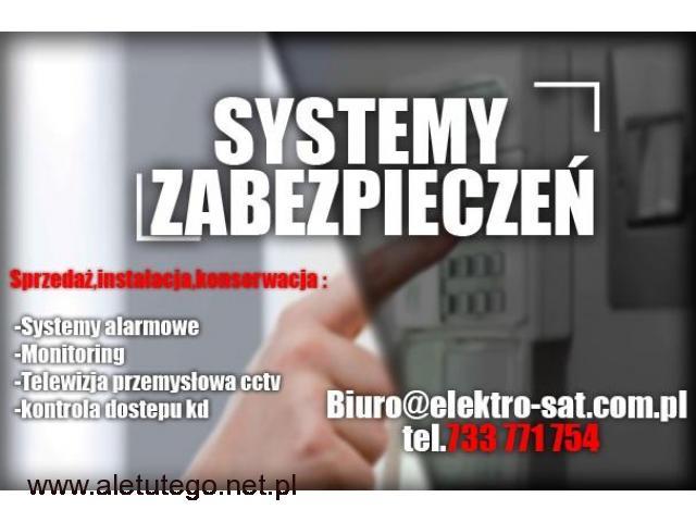 Monitoring kamery domofon montaż system alarmowy Goleniów